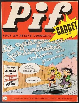 Pif Gadget No. 96 (Vaillant No. 1334) December 1970 Very Good Condition without