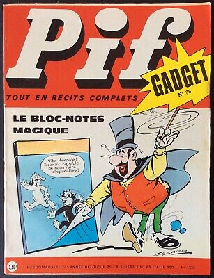 Pif Gadget No. 95 (Vaillant No. 1333) December 1970 Very Good Condition without