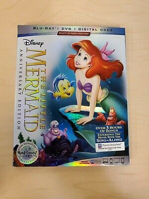 The Little Mermaid Walt Disney Signature Collection Blu-ray and DVD
