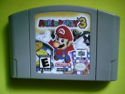 Mario Party 3 (Nintendo 64, 2001) cartridge only, authentic