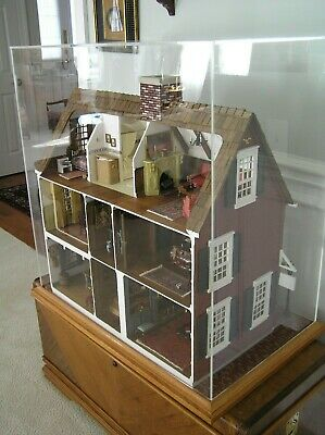 NEW ENGLAND FURNISHED DOLLHOUSE for the adult collector