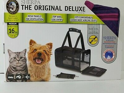 Sherpa Travel Original Deluxe Airline Approved Pet Carrier( MEDIUM) Purple