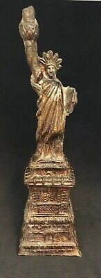 """Old Vintage Statue of Liberty 8"""" Tall Heavy"""
