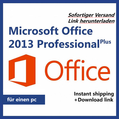 Microsoft Office 2013 Professional Plus Weltweit Vollversion Lizenz - Key sofort