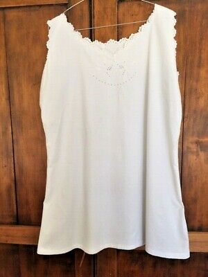 Vintage monogrammed  French chemise/ petticoat, probably made for a trousseau