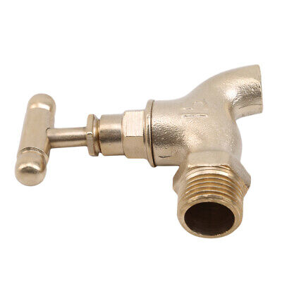 Garden Tap Faucet Outdoor Polished Old Style Retro Water Lever Bib Brass SM