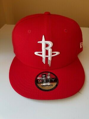 official photos 6a375 845be Houston Rockets New Era Official Team Color 9FIFTY Adjustable Snapback Hat  - Red