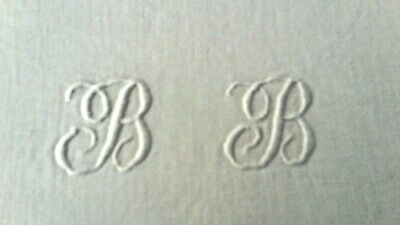 Antique heavy white monogrammed French metis sheet