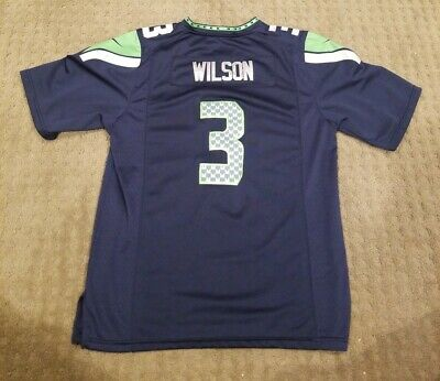 f137fdd5 RUSSELL WILSON #3 Seattle Seahawks Nike Youth Size Large NFL Jersey Blue
