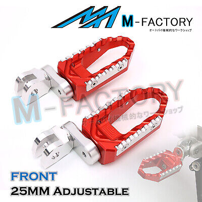 For Honda X-11 CB 1100 SF 1999-2007 Racing 25mm Extend Front Wide Foot Pegs Red