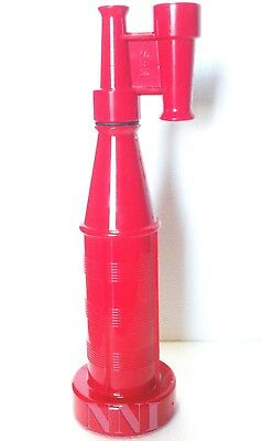 "1-1/2"" Npsh Forestry Fire Hose Nozzle Twin Tip Straight Stream  Red Poly"