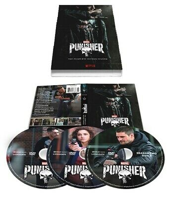 The Punisher Season 2 The Complete Second Season 3 Disc DVD Set w/Slip Cover NEW