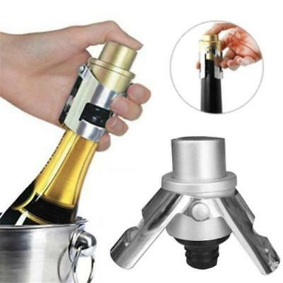 Stainless Steel Vacuum Sealed Sparkling Wine Champagne Bottle Saver Stopper HS