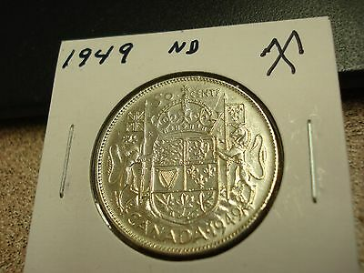1949 - ND - Canada - 50 cent silver coin - Canadian half dollar