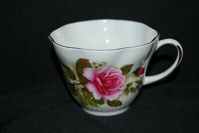 ROYAL MINSTER Pink Red Roses TEA CUP Heavy Gold Gilt England Replacement PRISTIN