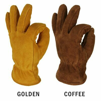 Cowhide Cashmere Hand Gloves Winter Warm Windproof Security Protection Glove New