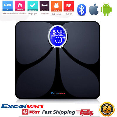 Wireless Digital Bathroom Body Fat Scale 180KG Bluetooth Fit Scales Weight BMI