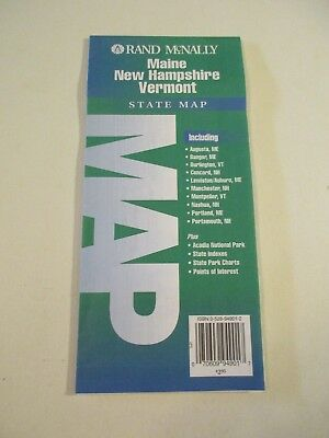 Rand McNally Maine New Hampshire Vermont State Highway Travel Map