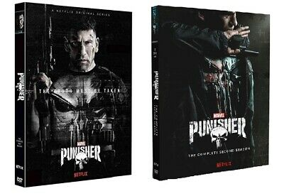 The Punisher Seasons 1 & 2 DVD 6 Disc Set (2) Complete Seasons w/Slip Covers New