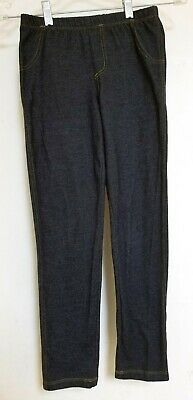 GIRLS Soft Stretchy Leggings Pants Dark Blue Denim Color Circo Size 10 / 12 LG