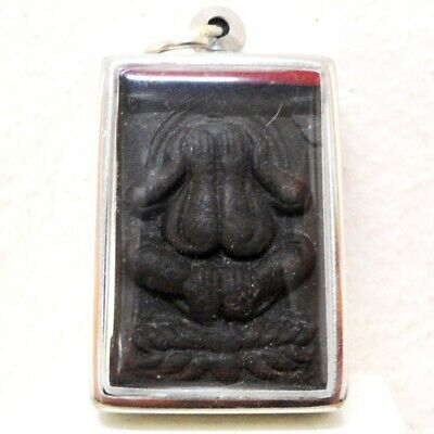 Antique Thai Buddha Amulet Old Statue Phra Pidta Pendant AYUTTHAYA Art gorgeous