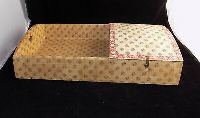"Antique Divided Tray Insert with Lid for Dome Top Steamer Trunk * 24 1/4"" Long"