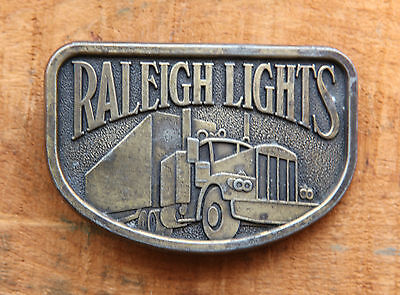 "Vintage Raleigh Lights Turcker Belt Buckle will accept 1 3/4"" wide belt"