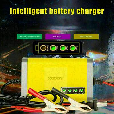 12V Volt Car Battery Charger Maintainer 2Amp Trickle Automatic Resetting