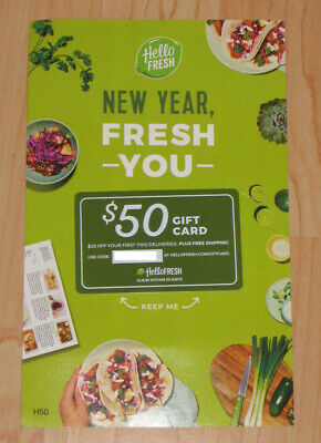 Hello fresh $50 gift card - $25 off your first two deliveries