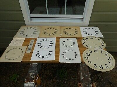 Vintage Clock Dial Face Paper Patterns Roman Numerals Wall & Grandfather Clocks