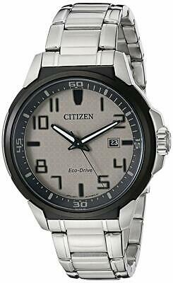 New Men's Citizen Eco-Drive AR Stainless Steel Watch AW1461-58H  5yr Warranty