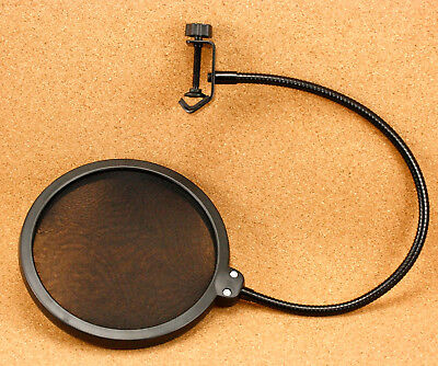 Microphone 360° Pop Filter Wind Screen Shield Double Layer Studio Recording