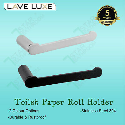 Black Stainless Steel 304 Toilet Paper Roll Holder Wall Mount Rack Hook Bathroom