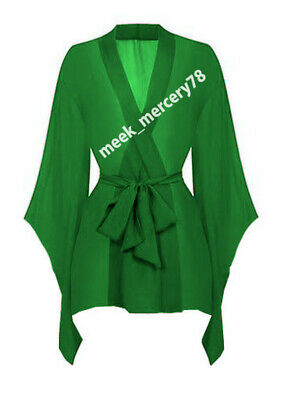 Girls Sext Dress Green Color  Maxi With Waist band Night Wear Chiffon Woman C46