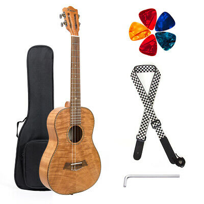Baritone Ukulele 30 inch Classical Head Okoume DGBE String with Strap Picks Bag