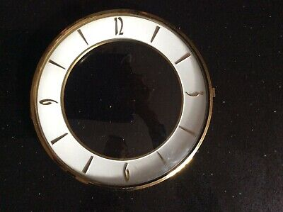 Clock Parts - Bezel With Convex Glass Hinge And Dial