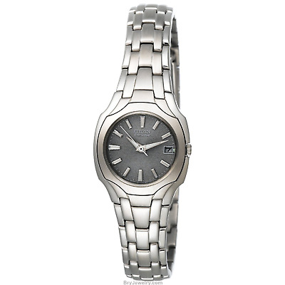 NEW Citizen Women's EW1250-54A Eco-Drive Gray Dial Stainless Steel Watch