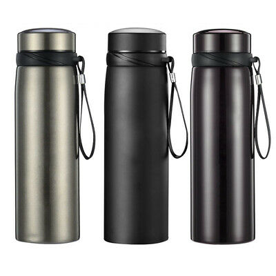 Thermos Insulated Vacuum Flask Water Bottle Stainless Steel Outdoor Travel Mug.