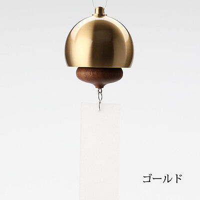 Nousaku Japanese Wind Bell Horn Motif Silver Color Type Brass Made in Japan F//S