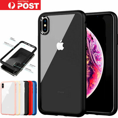 iPhone X XS Max XR Case Tough Clear Heavy Duty Shockproof Slim Cover For Apple