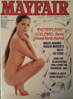 Mayfair Magazine Volume,18 Number, 7 James Bond Octopussy Mens Adult Glamour