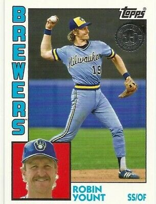 LOT of FIVE 2019 Topps Series 1 1984 TOPPS BASEBALL T84-32 Robin Yount Brewers