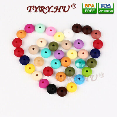 10PC/lot Chewable Silicone Loose Beads for Baby Pacifier Chain DIY Necklace