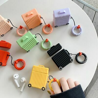 Creative For AirPods Charging Protective Case Fashion Cute Luggage Silicone