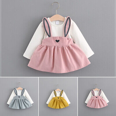 Kids Swing dress Mini dress Baby Outfits Toddle Cute Party Wedding Dresses Girls