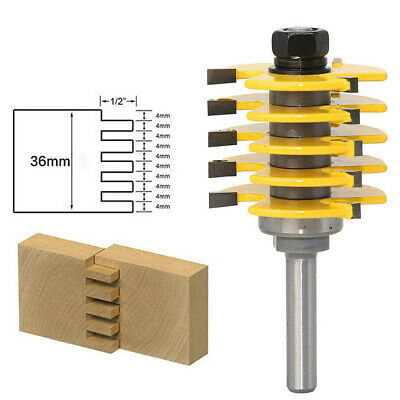 8mm Shank Finger Joint Router Bit Woodworking Cutter Tool Assembly with Box US