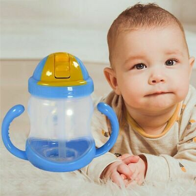 Baby Sip Drinking Water Bottle Cup Toddler Infant  Anti Spill Straw Style