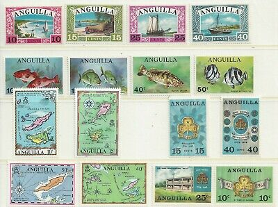 Anguilla - 1968 to 1972 - Four different commemorative sets - Un-mounted mint