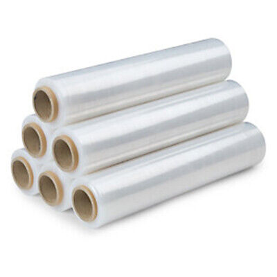 Strong 6 Rolls Pallet Stretch Shrink CLEAR Wrap Cast Fast Delivery