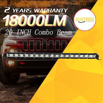 "20"" inch 90W Combo LED Light Bar CREE Super Slim Offroad Work Lamp single row"